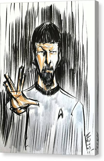 Spock Canvas Print - Live Long And Prosper...... by Tu-Kwon Thomas