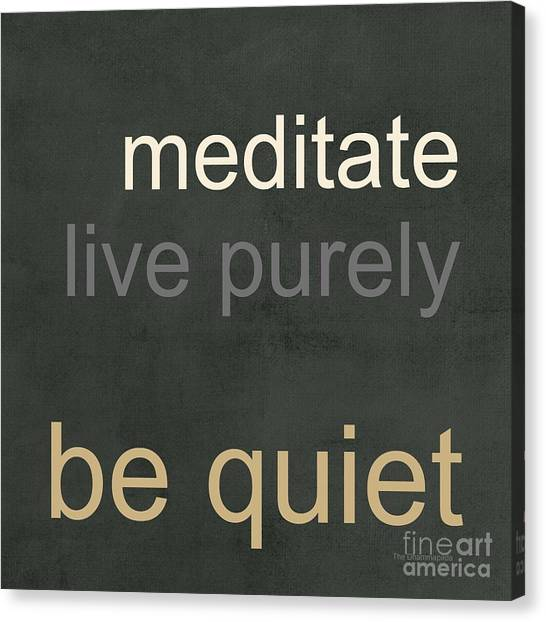 Buddha Canvas Print - Live Purely by Linda Woods