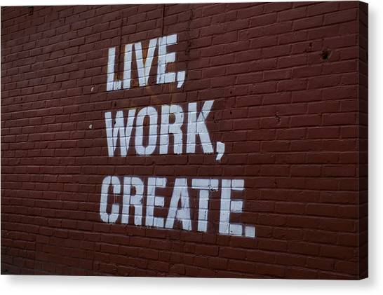 Live Work Create Canvas Print