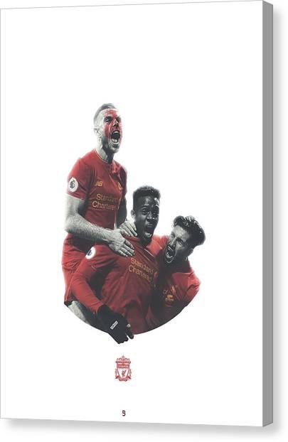 Liverpool Fc Canvas Print - Liverpool Fc by Bryan Dermody