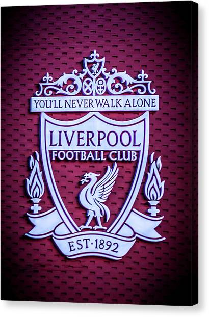 Liverpool Fc Canvas Print - Liverpool Fc Crest by Paul Madden