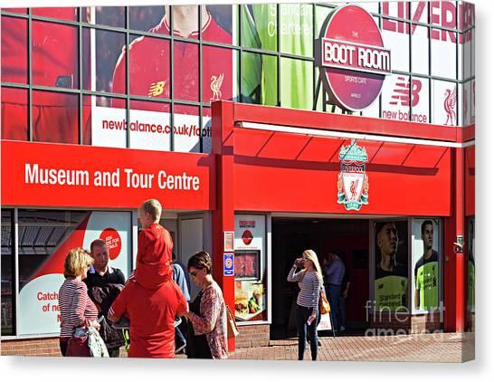 British Premier League Canvas Print -  Liverpool Football Club by Ken Biggs