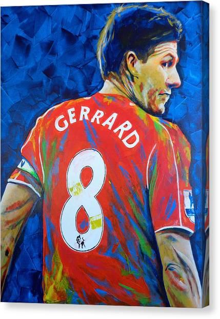 La Galaxy Canvas Print - Liverpool Legend Steven Gerrard by Scott Strachan