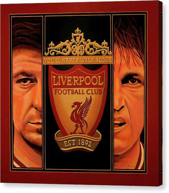 Goal Canvas Print - Liverpool Painting by Paul Meijering
