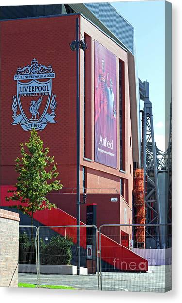 British Premier League Canvas Print - Liverpool Uk, 17th September 2016. Liverpool Football Club's New 114 Million Stand Nearing Completion by Ken Biggs