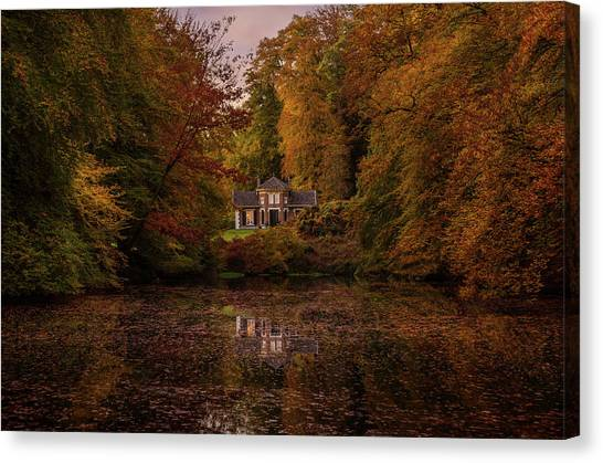 Living Between Autumn Colors Canvas Print