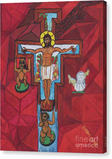Living Christ Ascending Canvas Print