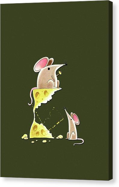 Mice Canvas Print - Living Dangerously  by Andrew Hitchen