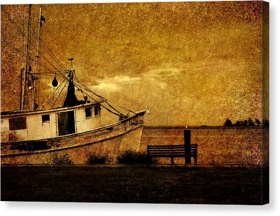 Shrimping Canvas Print - Living In The Past by Susanne Van Hulst