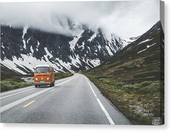 Roads Canvas Print - Living The Dream by Aldona Pivoriene