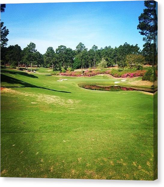Sports Canvas Print - Living The Dream #pinehurst4 #4 by Scott Pellegrin