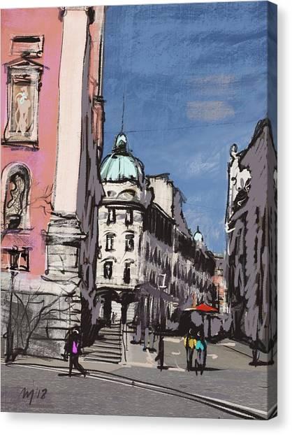 Ljubljana Canvas Print - Ljubljana 04 by Ugljesa Janjic