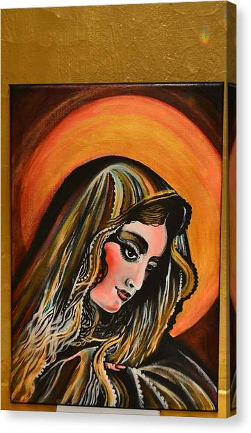 lLady of sorrows Canvas Print