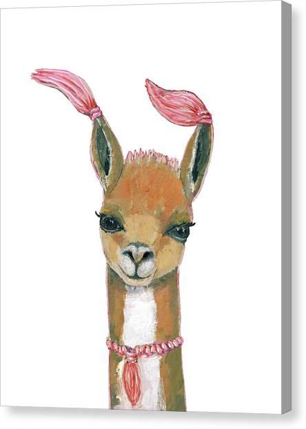 Llamas Canvas Print - Llama by Blenda Studio