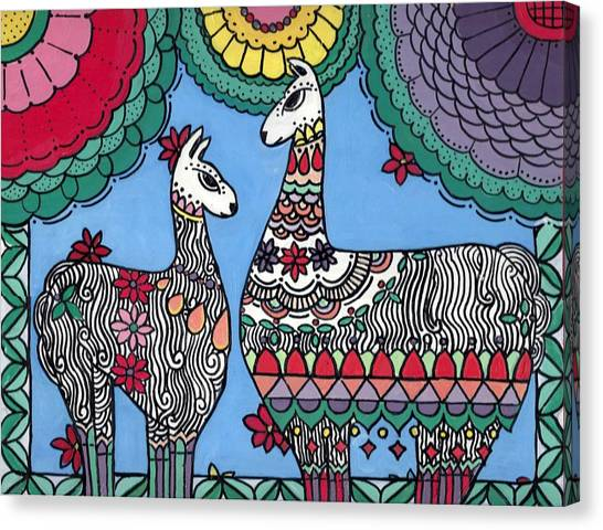 Llama Mama Canvas Print