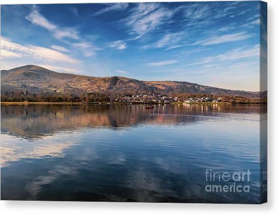 Llyn Padarn Canvas Print - Llanberis Lake Reflections by Adrian Evans