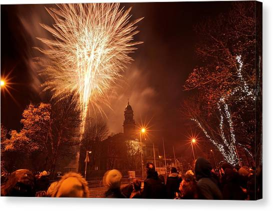 Llanelli Fireworks Canvas Print