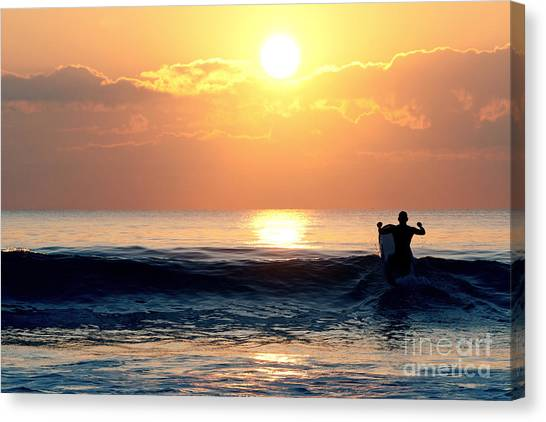 Llangennith Last Wave Canvas Print