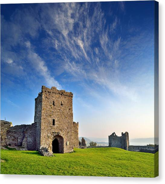 Llansteffan Castle 1 Canvas Print