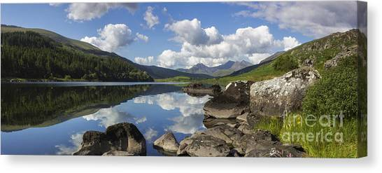 Llyn Mymbyr And Snowdon Panorama Canvas Print
