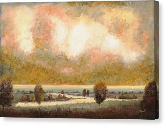 Wetlands Canvas Print - Lo Stagno Sotto Al Cielo by Guido Borelli