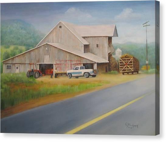 Load Of Hay Canvas Print