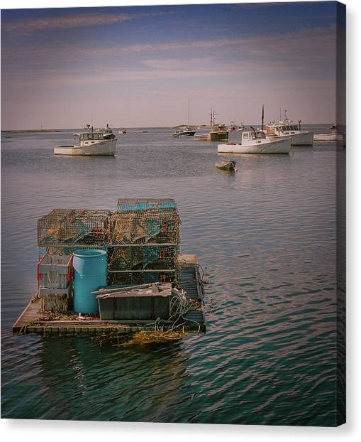 Lobstar Pot Float Canvas Print