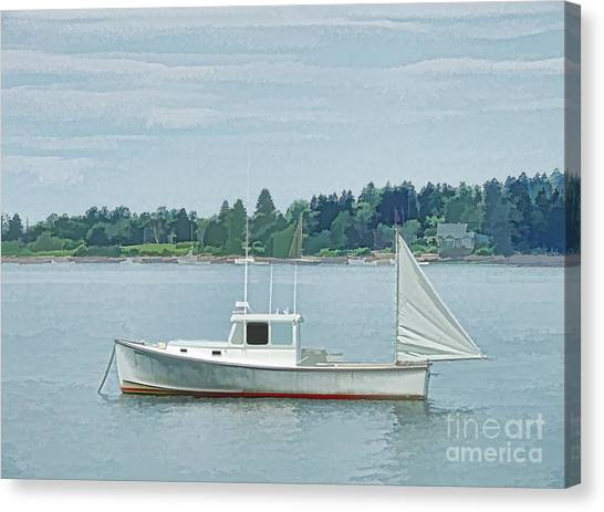 Lobster Boat Harpswell Maine Canvas Print