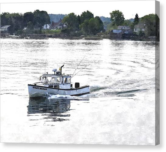Lobster Boat Lbwc Canvas Print