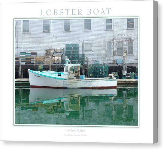 Lobster Boat Canvas Print by Peter Muzyka