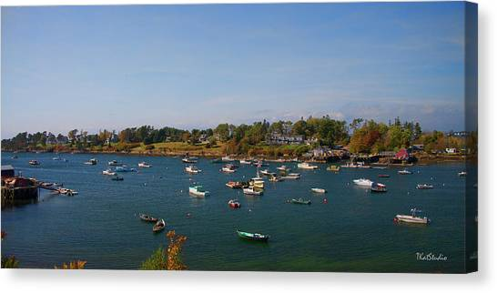 Lobster Boats On The Coast Of Maine Canvas Print