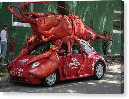 Lobster Car Canvas Print by Carl Purcell