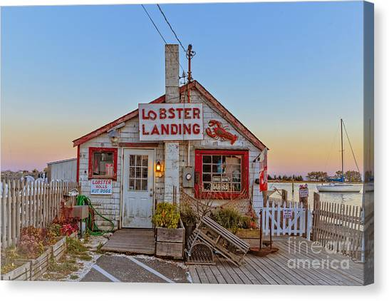 Lobster Canvas Print - Lobster Landing Sunset by Edward Fielding
