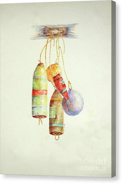 Lobster Sea Floats X 5 Canvas Print