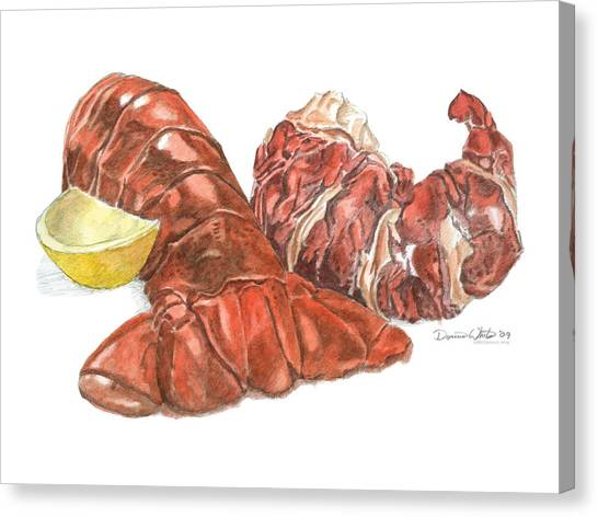 Lobster Tail And Meat Canvas Print