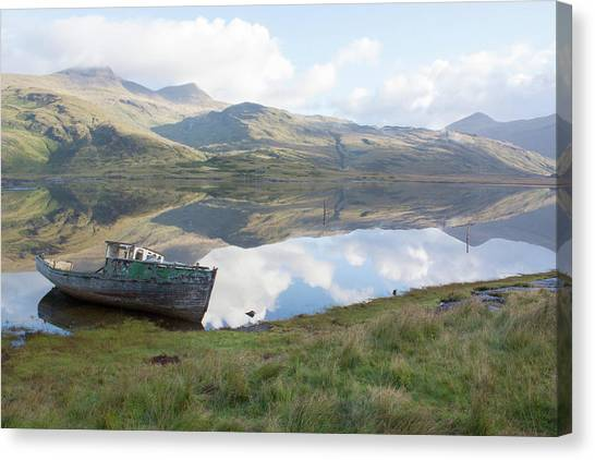 Loch Beg Reflects Canvas Print