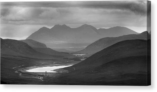 Loch Glascarnoch And An Teallach Canvas Print
