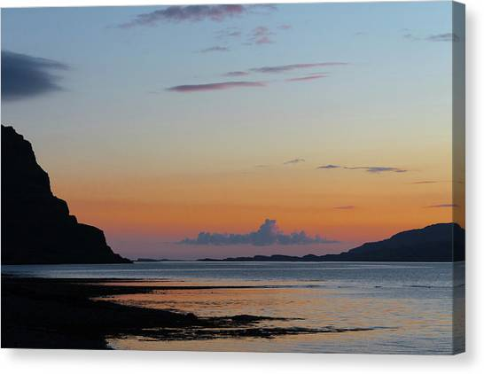 Loch Na Keal Sunset Canvas Print