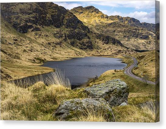Loch Restil From Rest And Be Thankful Canvas Print