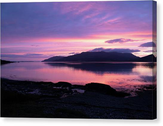 Loch Scridain Sunset Canvas Print