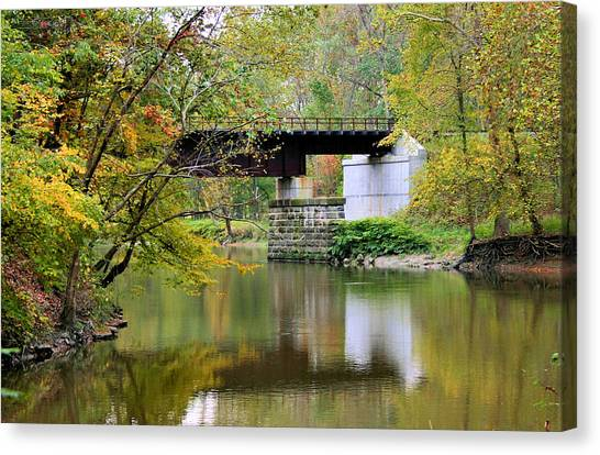 Ohio Valley Canvas Print - Lock 29 by Kristin Elmquist