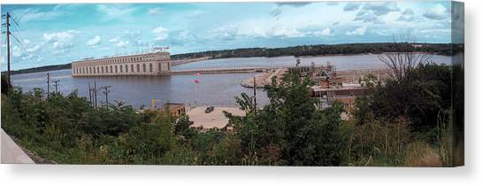 Lock And Dam 19 Canvas Print by Jame Hayes