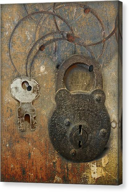 Lock And Key Canvas Print