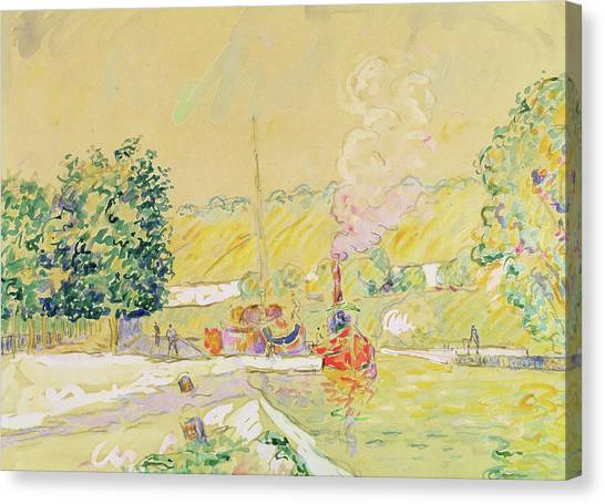 Keeper Canvas Print - Lock At Sannois by Paul Signac