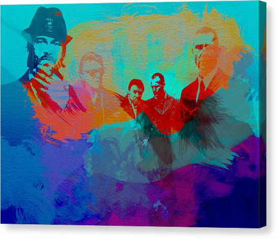 Lock Canvas Print - Lock Stock And Two Smoking Barrels by Naxart Studio
