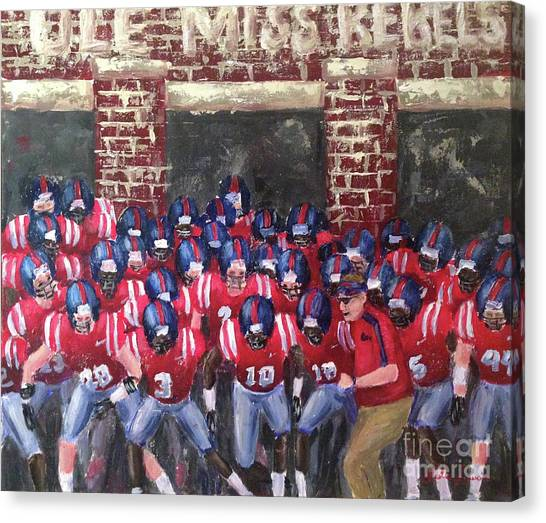 Mississippi State University Canvas Print - Lock The Gate by Leslie Saucier