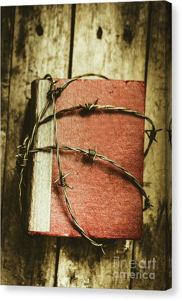 Lock Canvas Print - Locked Diary Of Secrets by Jorgo Photography - Wall Art Gallery