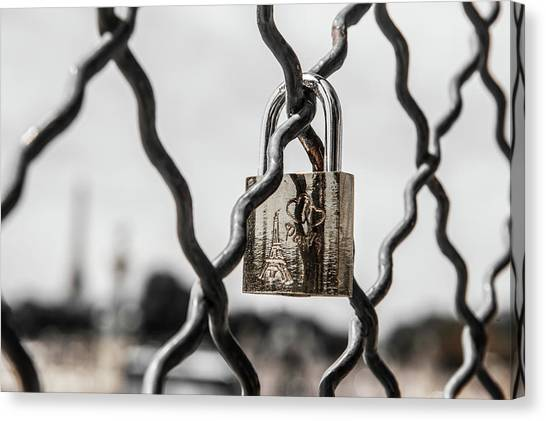 Locked In Paris Canvas Print