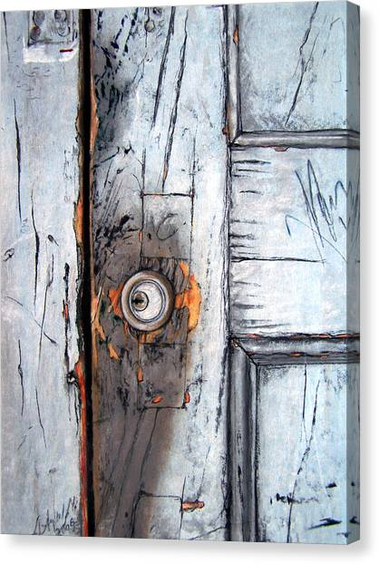 Lock Canvas Print - Locked by Leyla Munteanu