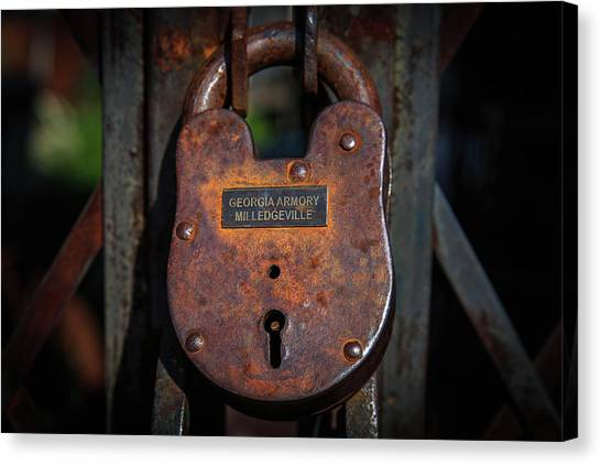 Canvas Print featuring the photograph Locked Up Tight by Doug Camara